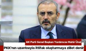 PKK'nın uzantısıyla ittifak oluşturmaya zillet denir