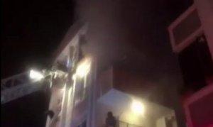 İstanbul'da korkutan yangın: Bina sakinleri mahsur kaldı