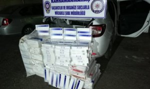 Kahramanmaraş'ta 3 bin 850 paket gümrük kaçağı sigara ele geçirildi