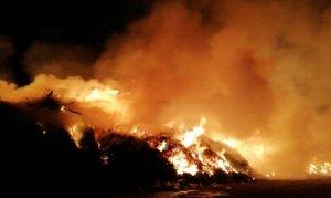 Çöp toplama merkezine yangın