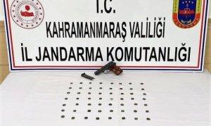 Kahramanmaraş'ta 56 adet gümüş sikke ele geçirildi