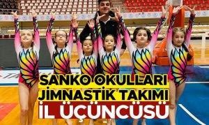 SANKO Okulları Jimnastik Takımı İl Üçüncüsü