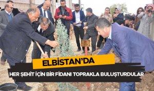 Elbistan'da her şehit için bir fidanı toprakla buluşturdular