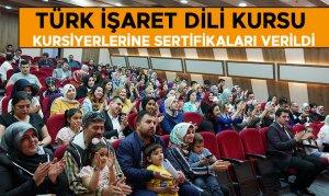 Türk İşaret Dili Kursu kursiyerlerine sertifikaları verildi