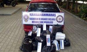 Kahramanmaraş'ta bin 604 paket kaçak sigara ele geçirildi