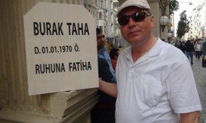 Kendi mezar taşını yaptırıp Taksim'de dolaştı