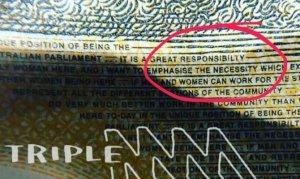 Avustralya'da 50 dolarlık banknotlarda yazım hatası