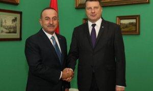 Bakan Çavuşoğlu Letonya'da