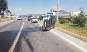 Pazarcık'ta ticari araç devrildi 1 kişi can verdi