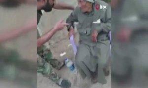 ÖSO yaşlı sivile işkence yapan Esad askerini yakaladı