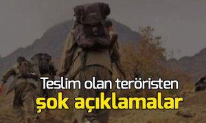Kahramanmaraş'ta teslim olan teröristten şok açıklamalar