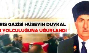 Kıbrıs gazisi Hüseyin Duykal son yolculuğuna uğurlandı