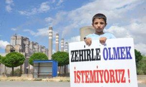 Kahramanmaraş'ta termik santral eylemi düzenlendi
