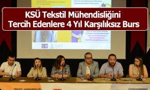 KSÜ Tekstil Mühendisliğini Tercih Edenlere 4 Yıl Karşılıksız Burs