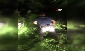 Polislerden kaçan şahısların arabasında tüfek ve fişek ele geçirildi