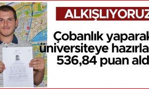 Çobanlık yaparak üniversiteye hazırlandı, 536,84 puan aldı