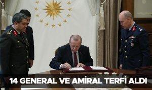 14 General ve Amiral terfi aldı