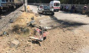 Kahramanmaraş'ta yük treni otomobile çarptı: Çok sayıda yaralı var