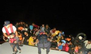 İzmir'de 202 kaçak göçmen yakalandı