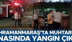 Kahramanmaraş'ta muhtarlık binasında yangın çıktı