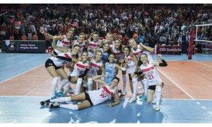 A Milli Kadın Voleybol Takımı Avrupa Şampiyonasına galibiyetle başladı