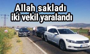 Allah sakladı iki vekil yaralandı
