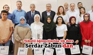 Tekstil öğrencilerine ilk ders Serdar Zabun'dan