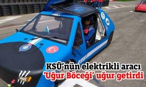 KSÜ'nün elektrikli aracı 'Uğur Böceği' uğur getirdi