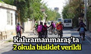 Kahramanmaraş'ta 2 okula bisiklet verildi