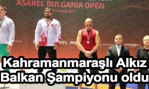 Kahramanmaraşlı Alkız Balkan Şampiyonu oldu