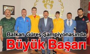 Balkan Güreş Şampiyonasında Büyük Başarı