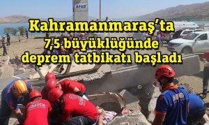 Kahramanmaraş'ta 7,5 büyüklüğünde deprem tatbikatı başladı