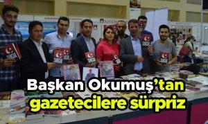 Başkan Okumuş'tan gazetecilere sürpriz