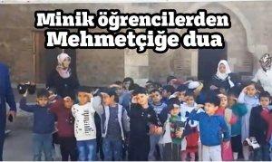 Kahramanmaraş'ta Minik öğrencilerden Mehmetçiğe dua