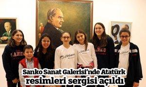 Sanko Sanat Galerisi'nde Atatürk resimleri sergisi açıldı