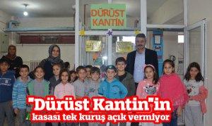 Elbistan'da 'Dürüst Kantin'in kasası tek kuruş açık vermiyor