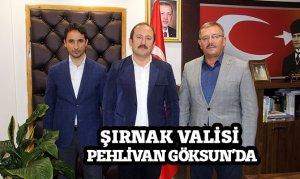ŞIRNAK VALİSİ PEHLİVAN GÖKSUN'DA