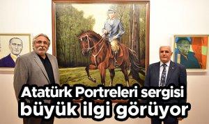 Atatürk Portreleri sergisi büyük ilgi görüyor