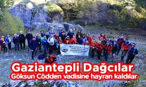 Gaziantepli Dağcılar Göksun Cödden vadisine hayran kaldılar