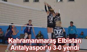 Kahramanmaraş Elbistan, Antalyaspor'u 3-0 yendi