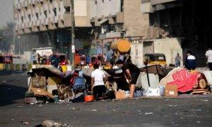 Bağdat'ta protestocularla güvenlik güçleri arasında çatışma