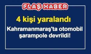 Kahramanmaraş'ta otomobil şarampole devrildi! 4 Yaralı