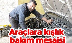 Araçlara kışlık bakım mesaisi