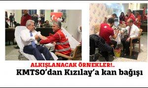 kmtso'dan kızılay'a kan bağışı