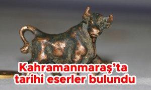 Kahramanmaraş'ta tarihi eserler bulundu