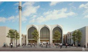 Almanya'da 2 bin kişilik cami ve külliye projesi tanıtıldı
