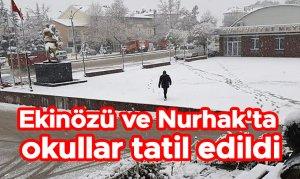 Ekinözü ve Nurhak'ta okullar tatil edildi