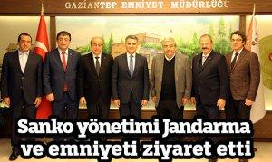 Sanko yönetimi Jandarma ve emniyeti ziyaret etti
