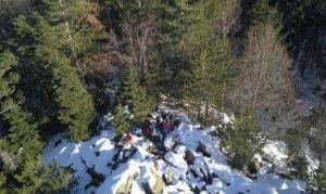 Uludağ'da kayıp olan iki dağcı drone ile arandı