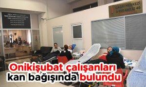 Onikişubat Belediyesi çalışanları kan bağışında bulundu